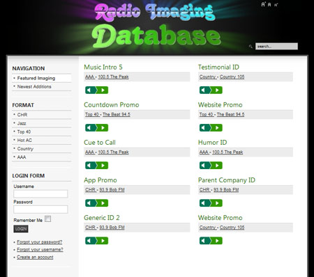 Radio Imaging Database